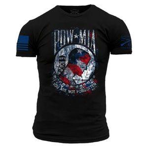 New!! Grunt Style POW MIA Black T-shirt